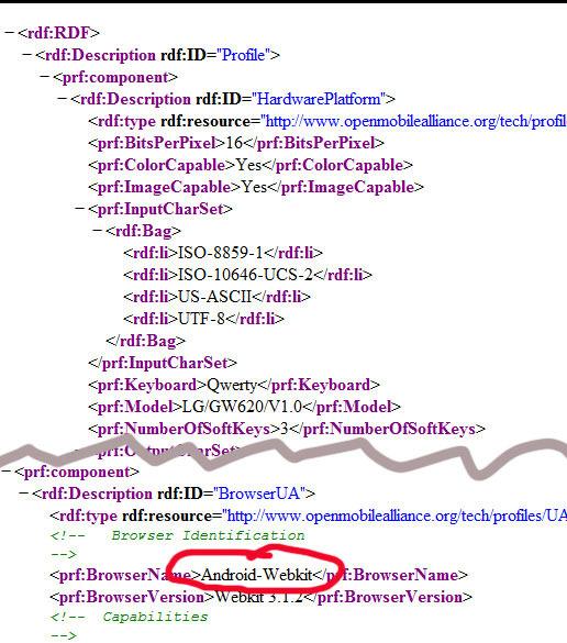 브라우저가 Android-Webkit으로 되어있군요.