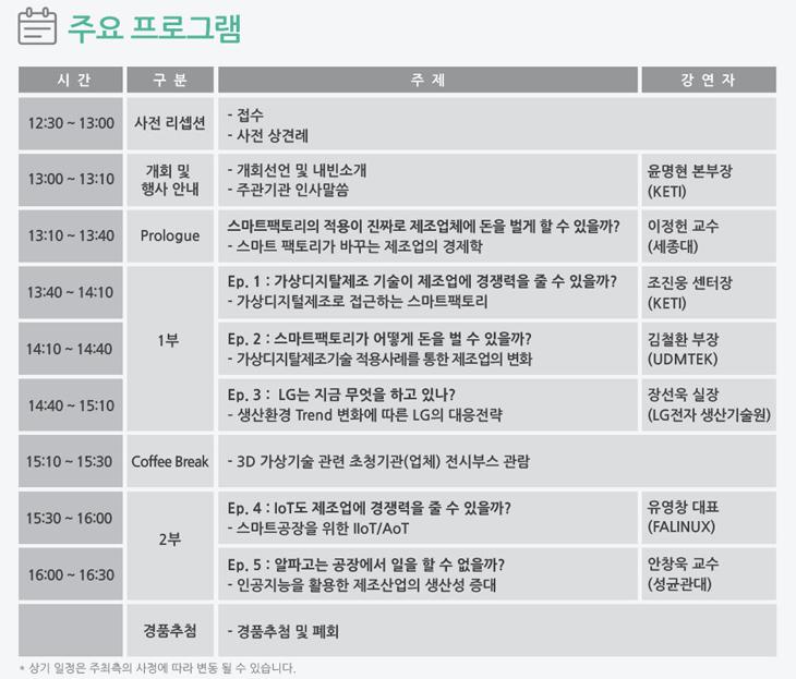 세미나 소식 : 3D가상기술산업지원센터 2016년 기술세미나: 가상디지털제조기술 시즌 I