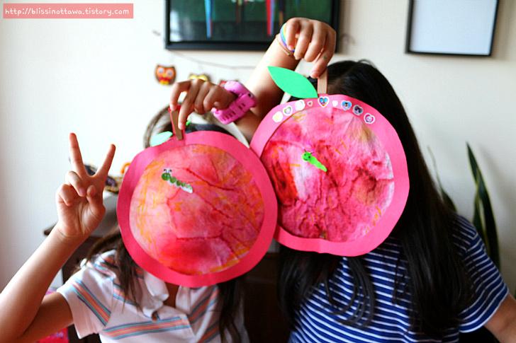 사과 만들기 가을철 유아미술놀이