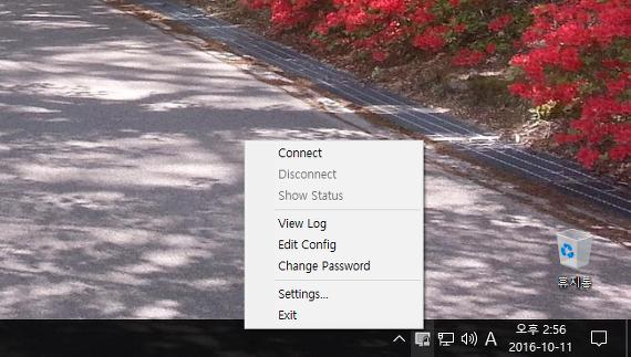 OpenVPN GUI 실행 모습