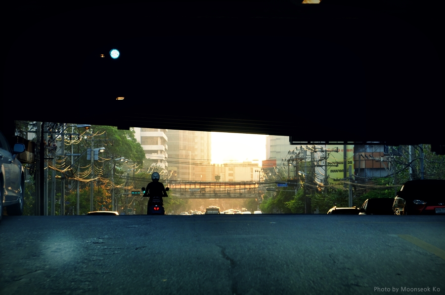 방콕 아침 풍경 스냅사진