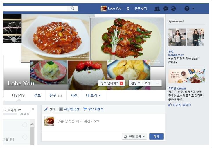페이스북 접속