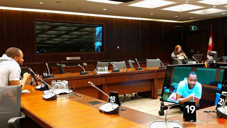 국제 회의실입니다
