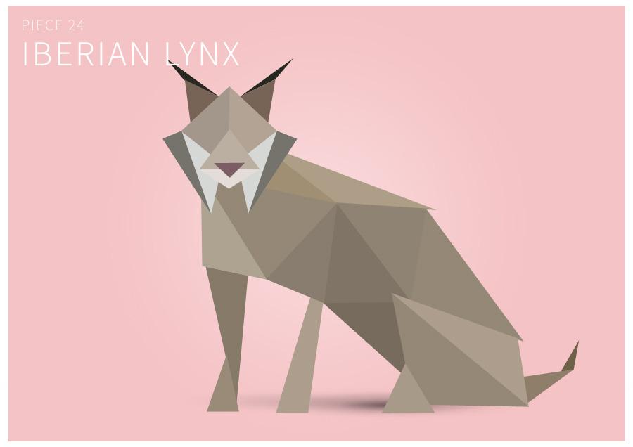 Piece 24 Iberian lynx