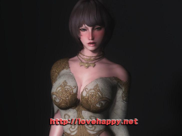 스카이림 의상 - 로그 의상 elika outfit clothes hdt skyrim mod 001