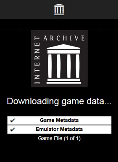 인터넷아카이브 도스게임 로딩