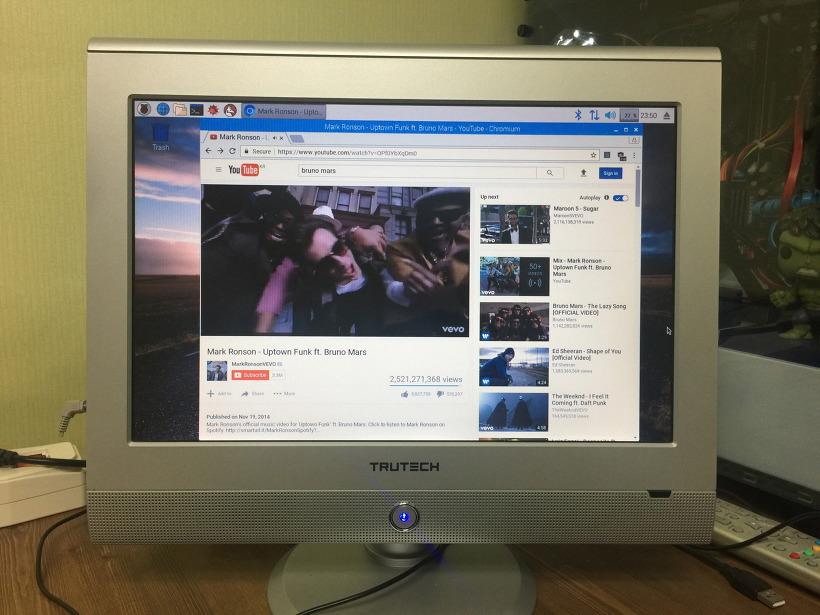 라즈베리파이3 라즈비안 인터넷 웹서핑 유튜브 동영상 감상