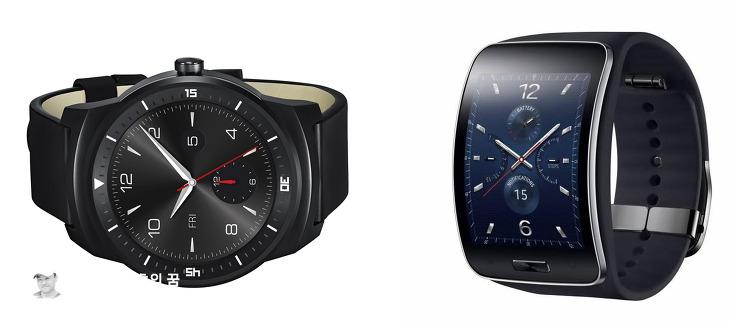 LG G워치R vs 삼성 기어S