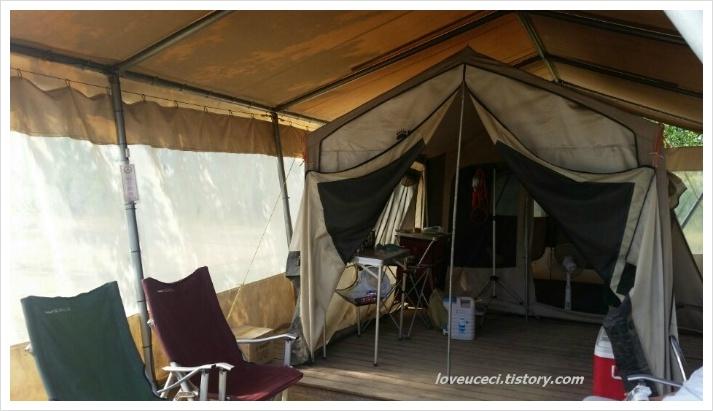 텐트 내부