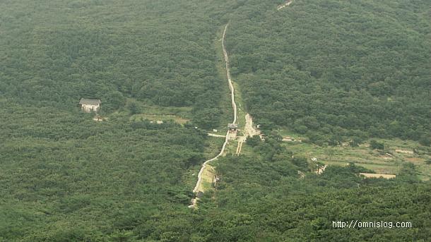 고당봉에서 보는 북문전경