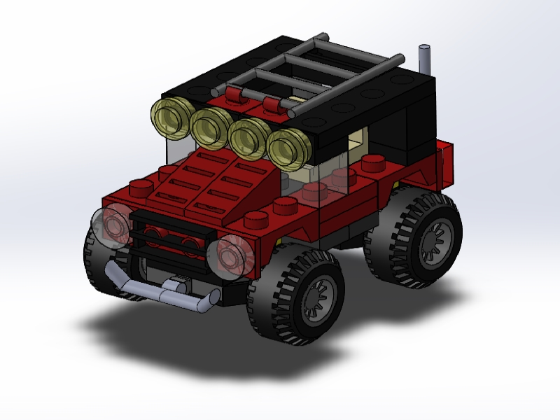 솔리드웍스 |  레고 오프로드자동차