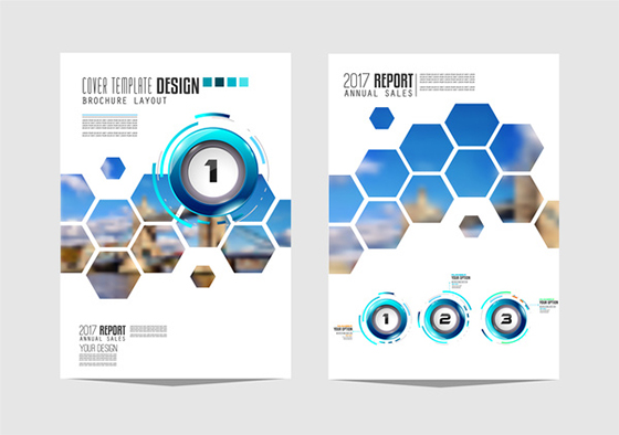 Business flyer brochure cover template vector 03