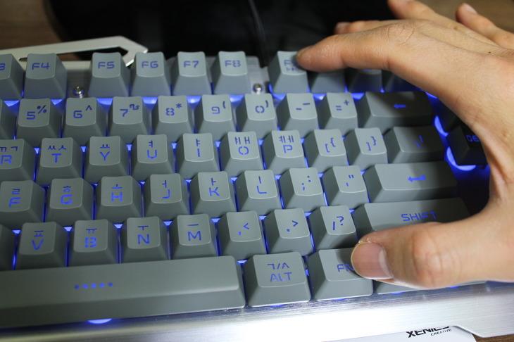 제닉스 STORMX TITAN SE 키보드 사용후기 LED 게이밍키보드 매크로 안티고스팅 지원