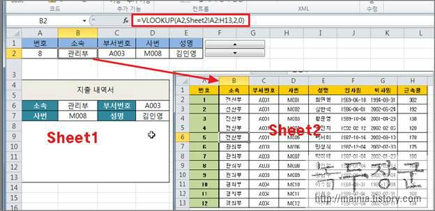 엑셀(Excel) 데이터 양식 입력 자동화를 위해 스핀과 목록 컨트롤 사용하는 방법
