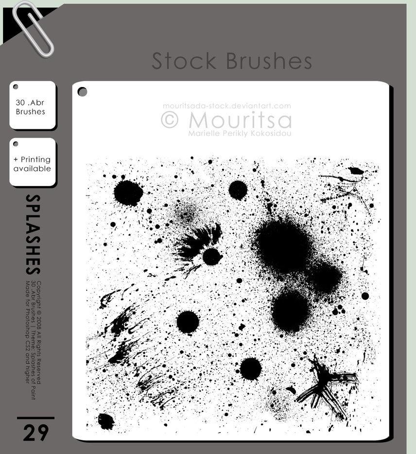 30 가지 무료 포토샵 흩뿌려지는 페인트 브러쉬 - 30 Free Photoshop Splashes Of Paint Brushes