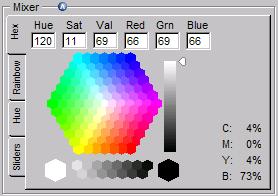 색상혼합 테이블 Hex