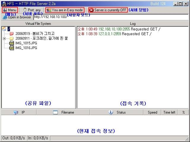 HFS 인터페이스