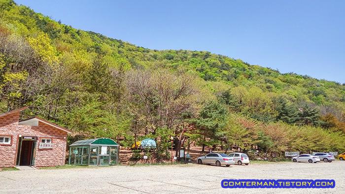 용현자연휴양림 캠핑장