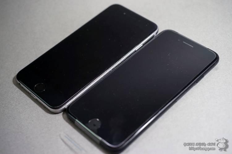 아이폰7, iphone7, 블랙, 매트블랙, 개봉기, 구성품, 이어팟, 젠더, 아이폰6, 비교