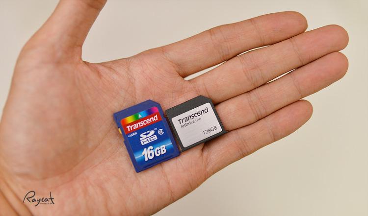 트레센드 SD jetDrive LITE 350 일반 SD카드와 비교