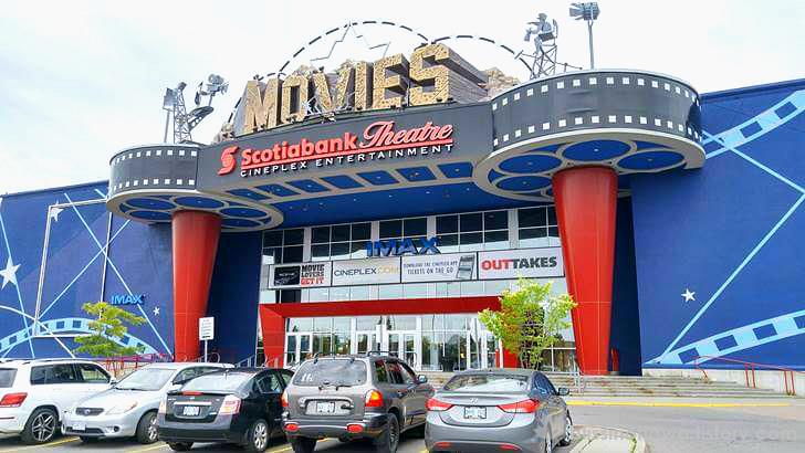 캐나다 영화관 최대 체인 씨네플렉스 입니다