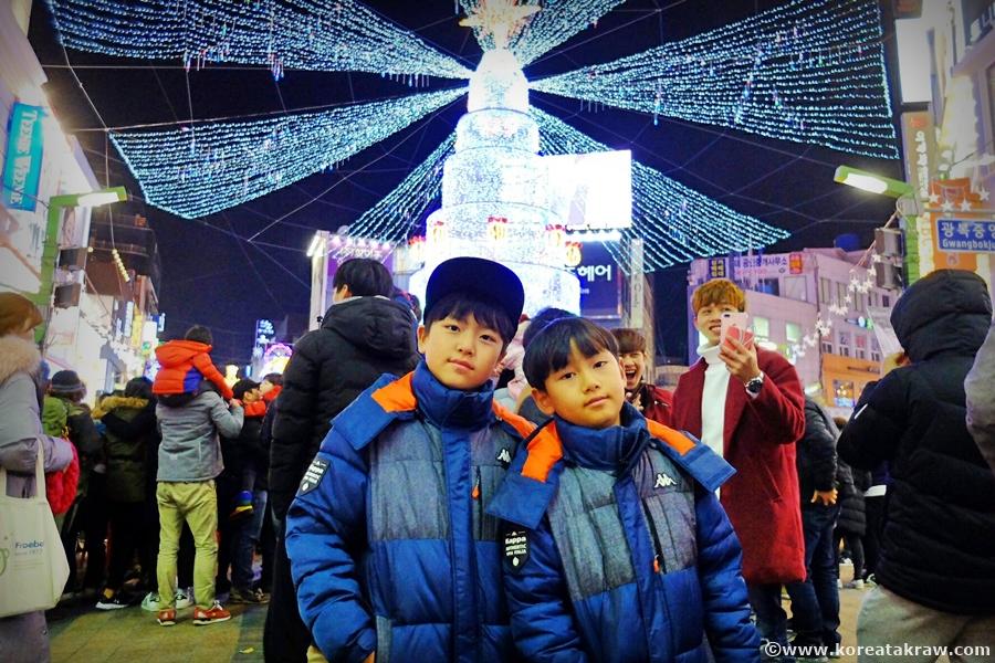 광복동크리스마스트리사진