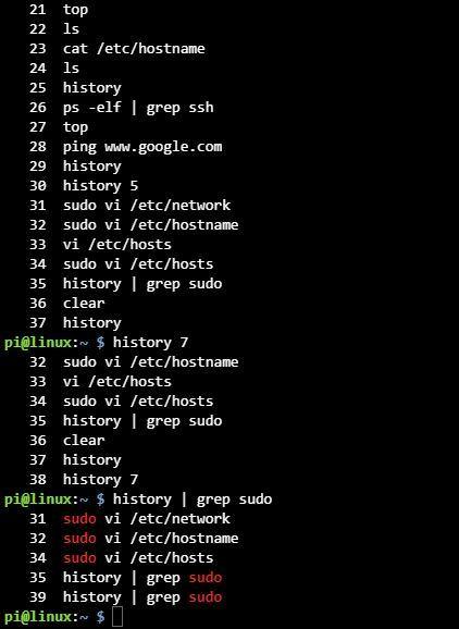 리눅스 히스토리 history 사용법 정리