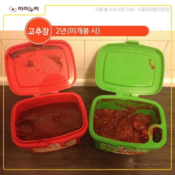 고추장 식품기한