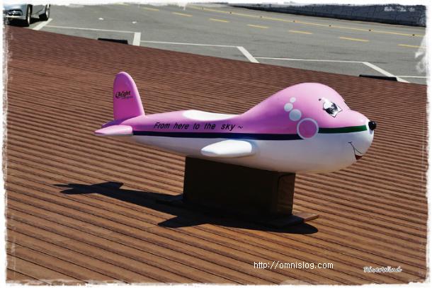 외양포 전망대 아기비행기