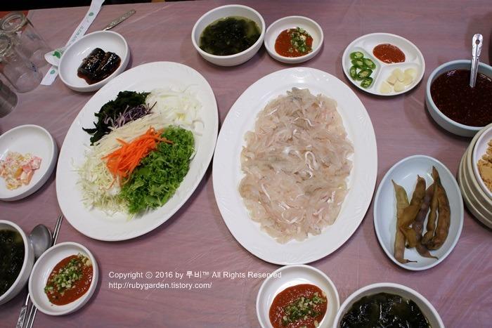경주 맛집 / 동천동 횟집 / 가성비 대박인 대풍 참가자미회