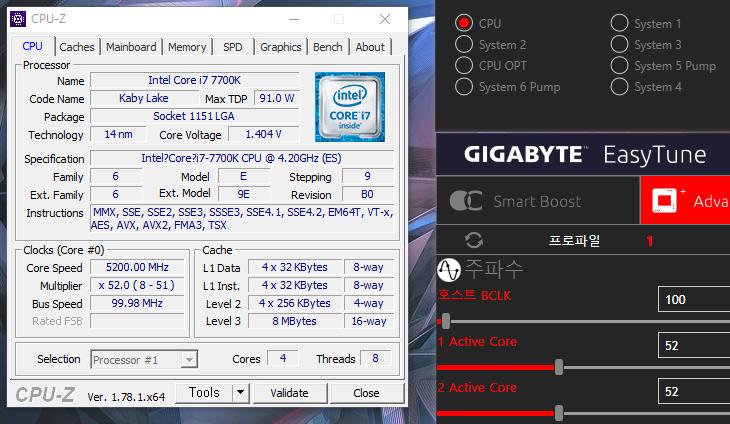 i7 7700K ,5GHz, 오버클럭 ,공냉 ,AORUS, Z270X Gaming 9,IT,IT 제품리뷰,새로나온 카비레이크 프로세서를 사용해 봤습니다. 오버클러킹도 해보려고 합니다. i7 7700K 5GHz 오버클럭 공냉으로  AORUS Z270X Gaming 9 메인보드와 함께 사용을 해 봤는데요. 오버클러킹은 이제는 좀 더 쉬워졌습니다. 생각보다 잘 올라가네요. i7 7700K 5GHz 오버클럭 공냉으로 성공을 했고 실사용도 가능했습니다. 게임도 가능하고 인코딩도 빠르게 잘 되네요. 확실히 체감성능이 많이 올라갑니다. 물론 오버했을 때 그렇습니다.