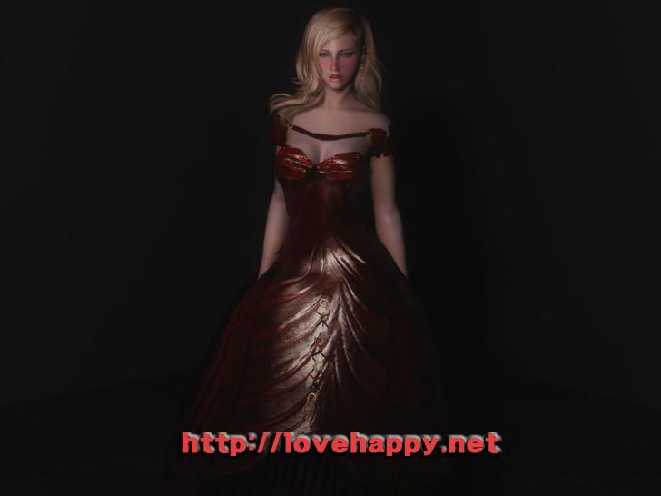 스카이림 의상 - 드레스 의상 red queen noble dress skyrim mod 002