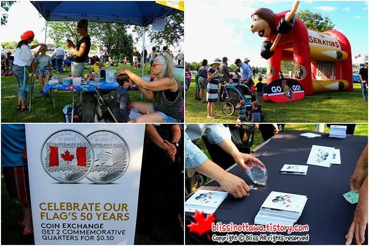 캐나다 국기 50주념 기념 주화 입니다