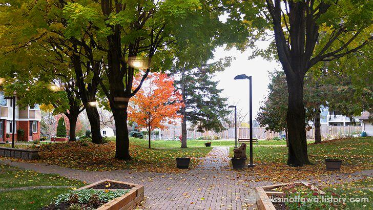 캐나다 퇴직자 아파트 정원