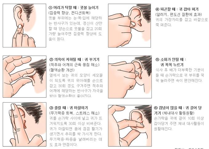 귀 마사지 방법, 귀마사지