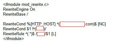 서브도메인 연결, .htaccess 파일 수정하기