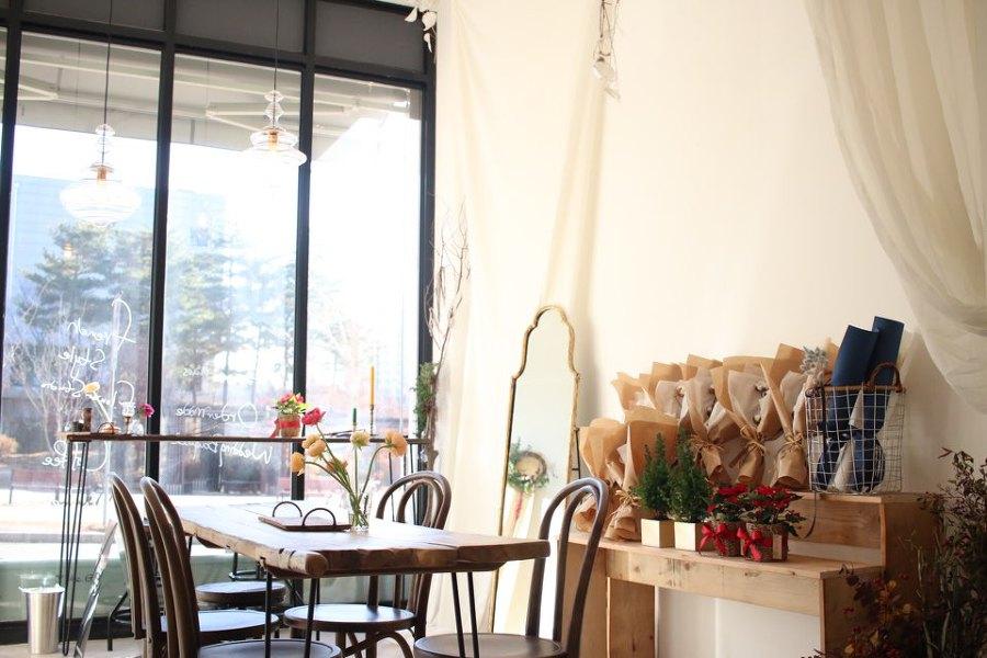 고급스러운 꽃집 판교 플라워 스튜디오 윈느, 꽃꽃이 클래스도 있어요.