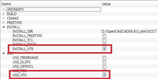 OCC CMake INSTALL USE 구성