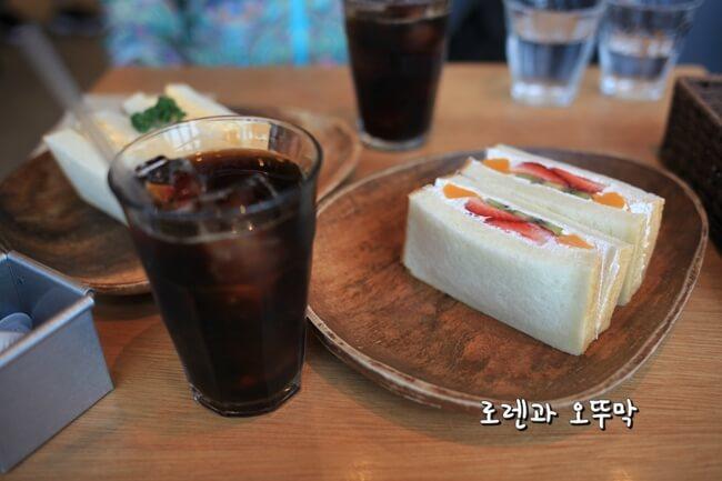 하카타역 무츠카도 카페의 유명한 샌드위치8
