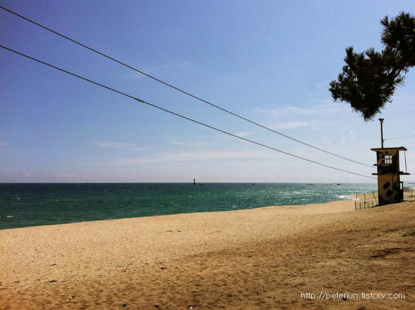 경치 좋은 사천해변 바닷가