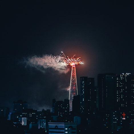 롯데월드 타워 새해불꽃