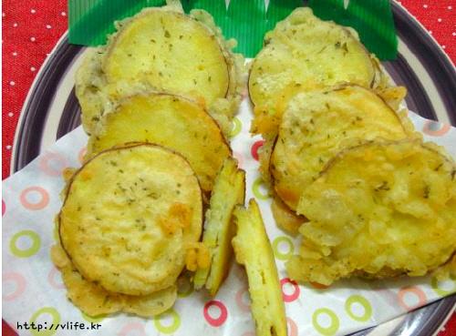 고구마 치즈 튀김