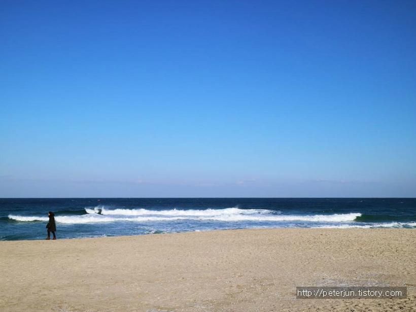 깨끗한 하늘과 바다