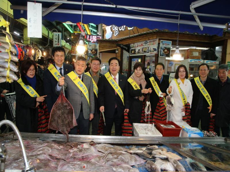 전라북도의회, 설맞이 장보기는 전통시장에서
