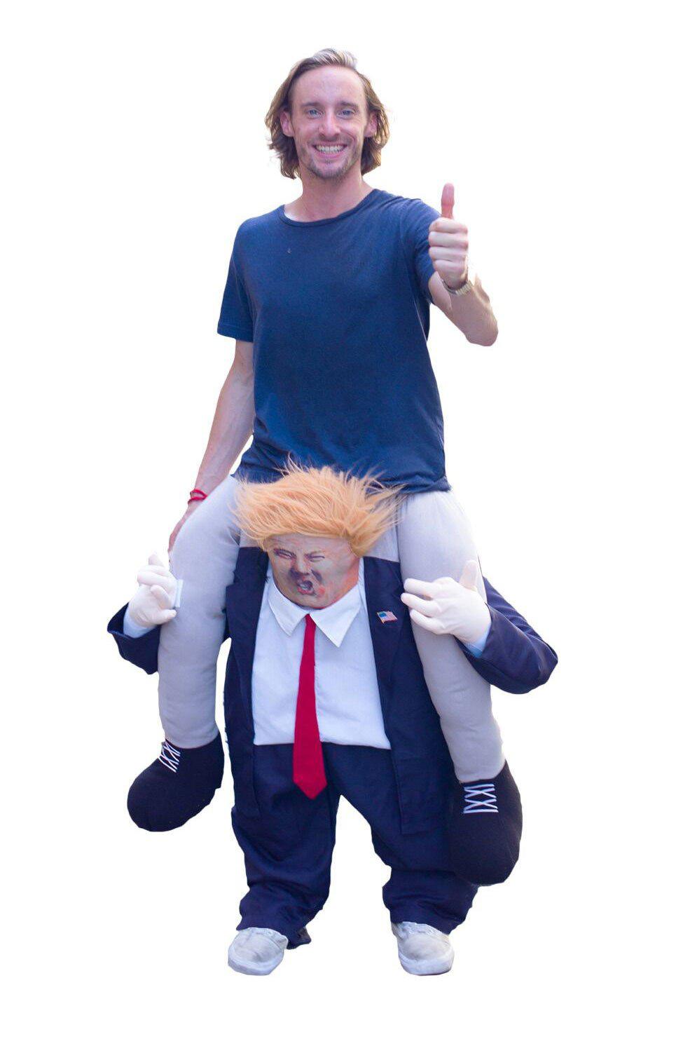 해외 할로윈엔 트럼프에 목마를 탈것입니다. Ride on Trump