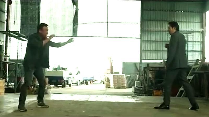 사진: 영화 보안관 결말을 장식하는 이성민과 조진웅의 두번째 대결.