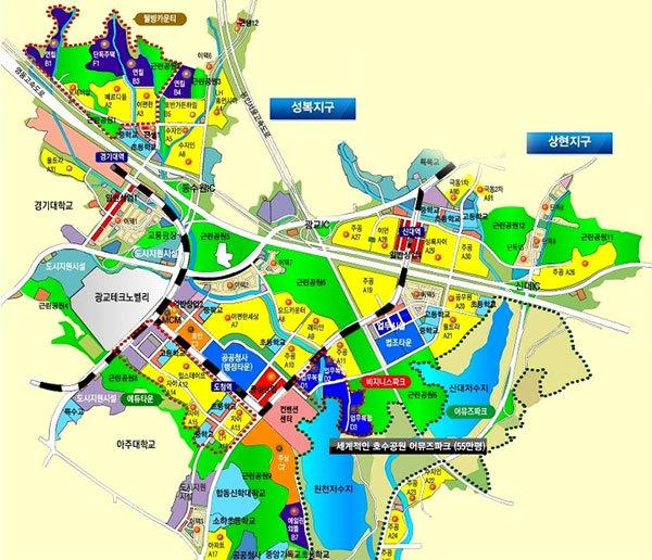 광교신도시 토지이용계획도