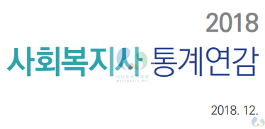 2018년 사회복지사 통계연감(현황)