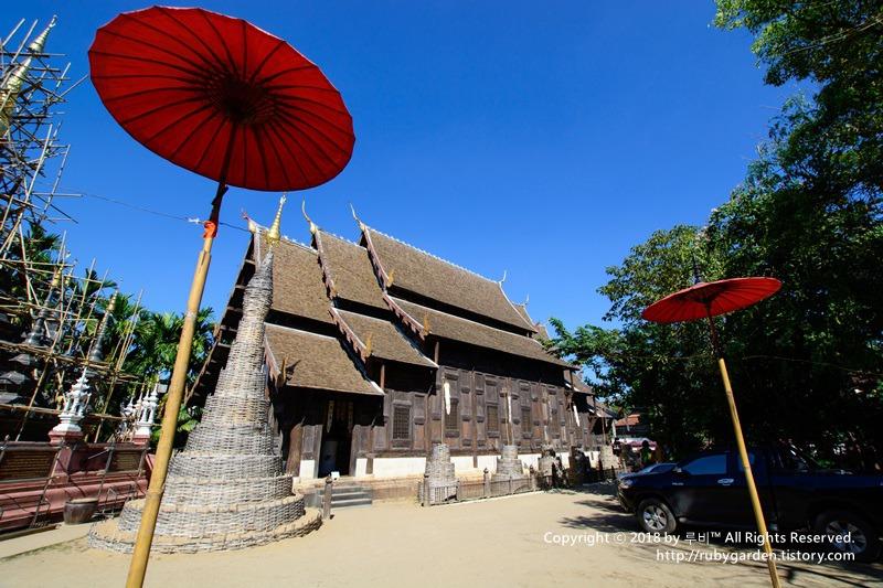 태국 치앙마이 여행 / 정원이 아름다운 사원 '왓 판 타오(Wat Phan Tao)'