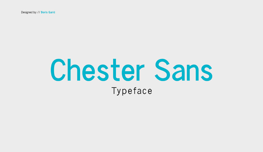 Chester Typefamily서체 무료 폰트 Chester Typefamily Free Demo
